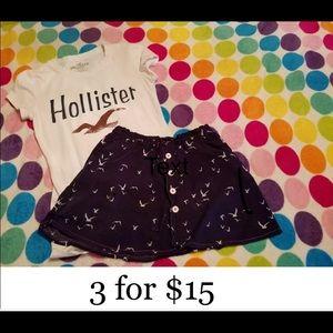 Hollister & O'Neil Shirt Skirt Set